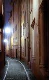 узкая улица Стоковое Фото