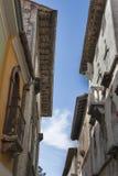 Узкая улица Porec в Хорватии Стоковые Изображения RF