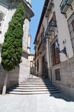 Узкая улица в Мадриде, Испании Стоковые Изображения RF
