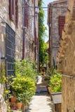Узкая улица в Сан-Марино Стоковая Фотография