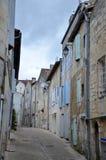 Узкая улица в французской деревне Стоковое Изображение RF