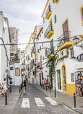 Узкая улица в Ibiza Стоковое фото RF