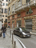 Узкая улица Генуи Стоковое Изображение RF
