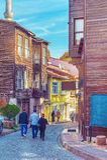 Узкая улица Стамбула Стоковое Изображение