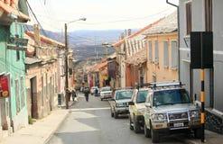 Узкая улица с наклоном в Potosi Стоковая Фотография RF