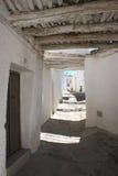 Узкая улица с побеленными домами в Alpujarras Стоковая Фотография