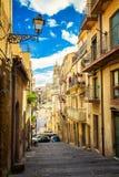 Узкая улица Caltagirone Стоковая Фотография RF