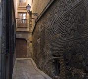 узкая часть переулка Стоковая Фотография