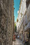 Узкие майны на старом городке Дубровника стоковая фотография rf