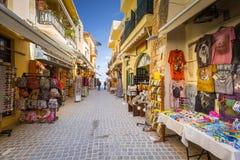Узкие улицы с сувенирами Стоковое Изображение RF