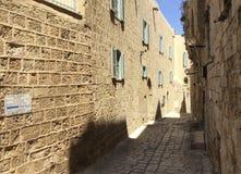 Узкие улицы старого Yaffo, Израиля Стоковая Фотография RF