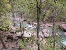 Узкие части, национальный парк Сиона, Юта Стоковое фото RF