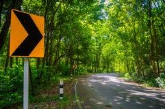 Узкие части дороги на праве Стоковые Фото