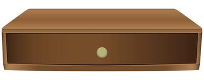 Узкий деревянный ящик иллюстрация штока