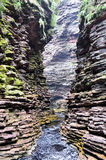 Узкий каньон в Бахи Бразилии стоковое изображение rf
