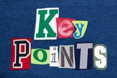 УЗЛОВЫЕ ПУНКТЫ отправляют SMS ткани коллажа слова красочной на джинсовой ткани, сводке представления стоковая фотография