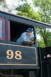 УИЛМИНГТОН, DE 15-ОЕ ИЮНЯ: Уилмингтон и западная железная дорога линия поезда наследия для посетителей идя на touristic Стоковые Фотографии RF