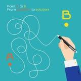Укажите трасса ручка a к b плоская Стоковое Изображение RF