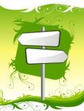 указатель зеленого цвета предпосылки Стоковое Фото