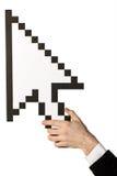 указатель мыши руки стоковая фотография