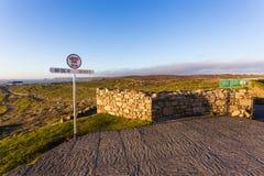 Указатель на конце Корнуолле земель, Великобритании стоковая фотография rf