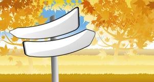 указатель пущи осени Стоковое Фото
