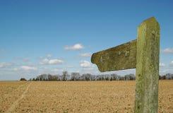 указатель сельской местности стоковые фотографии rf