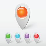Указатели или штыри реалистического хрустального шара красочные Стоковое Изображение RF