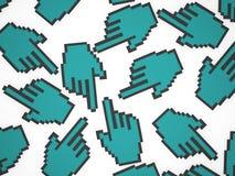 Указатели мыши руки Стоковые Изображения RF
