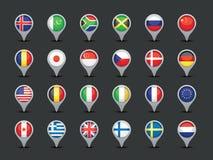 Указатели флага Стоковое Фото