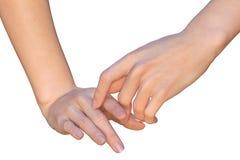 Указательные пальцы женских рук касаются одину другого Стоковое фото RF
