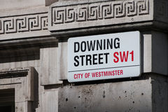 Указатель Даунинг-стрит, Лондон Стоковое Изображение