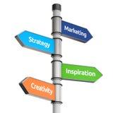 Указатель дела для направления (маркетинга, стратегии, inspiratio иллюстрация штока