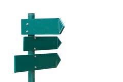 Указатель зеленого цвета направления стрелки в парке Стоковые Фотографии RF