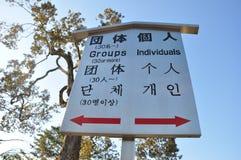 Указатель знака для туриста в виске Kinkakuji Стоковые Изображения