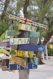 Указатель на Grand Cayman Стоковые Фото