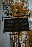 Указатель до 10 Wijngaerde Брюгге Béguinage, Бельгия Стоковые Фото