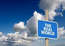 Указатель реального мира Стоковые Фото