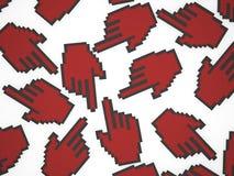 Указатель руки мыши Стоковая Фотография RF