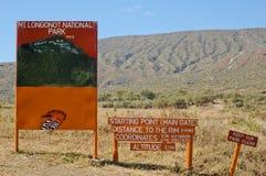 Указатель Longonot держателя в Кении, Африке Стоковое Изображение RF