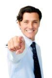 указывать бизнесмена Стоковая Фотография