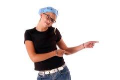 указывать девушки диско ребенка Стоковые Фотографии RF