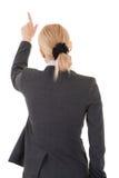 Указывать женщина дела от задней части Стоковые Фотографии RF