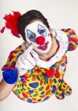 указывать клоуна Стоковые Изображения RF