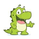 Указывать крокодила или аллигатора иллюстрация штока