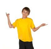 указывать мальчика решая стоковая фотография