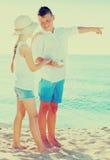 Указывать мальчика и девушки Стоковая Фотография RF