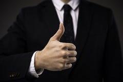 Указывать пальца руки бизнесмена Стоковые Изображения