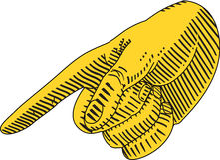 Указывать пальца иллюстрация вектора