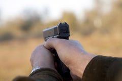 указывать пушки Стоковые Изображения RF
